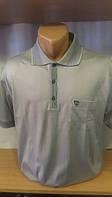 Мужская футболка-поло на пуговицах новинка этого сезона с накладным карманом на груди и вышитым лого Cottonart