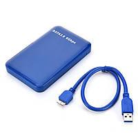 USB 3.0 SATA JMS578 внешний бокс для HDD SSD 2.5 разборной синий