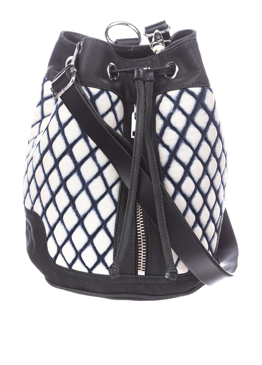 Сумка женская DIESEL цвет бело-черный-синий размер - арт X03522P0722
