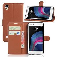 Чехол-книжка Litchie Wallet для LG X Style K200 Коричневый