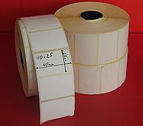 40*25 Термоэтикетка самоклеющаяся, 2000шт для ценников