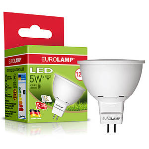 "EUROLAMP LED Лампа ЕКО серия ""D"" MR16 5W GU5.3 3000K/4000K 12 V"