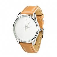 """Часы """"Минимализм"""" (ремешок карамельно - коричневый, серебро) + дополнительный ремешок (4600155)"""