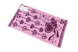 Полотенце махровое  50*90 С ЛЮБОВЬЮ (розовый)100% хлопка (шт.)