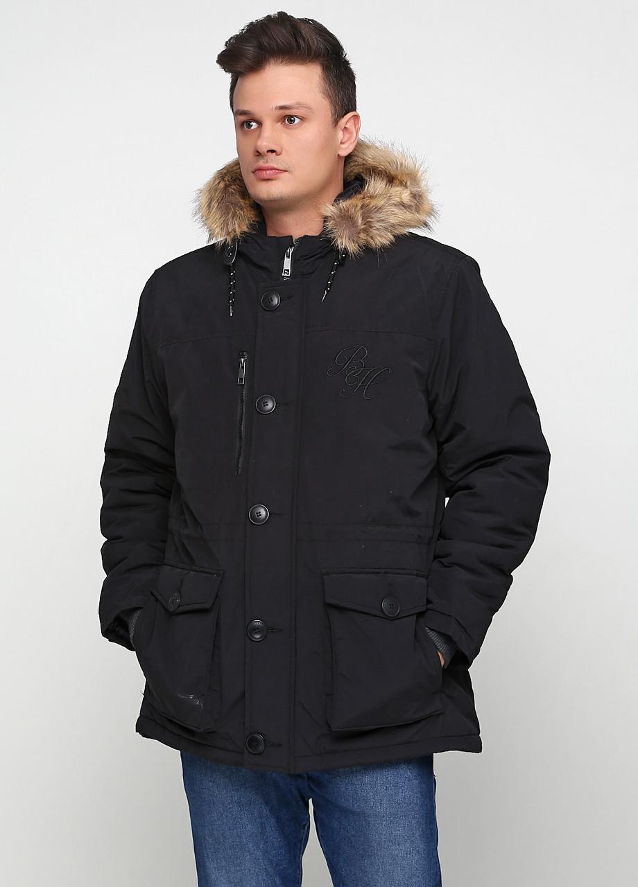 Парка мужская Мужская одежда цвет черный размер XL арт 01112018