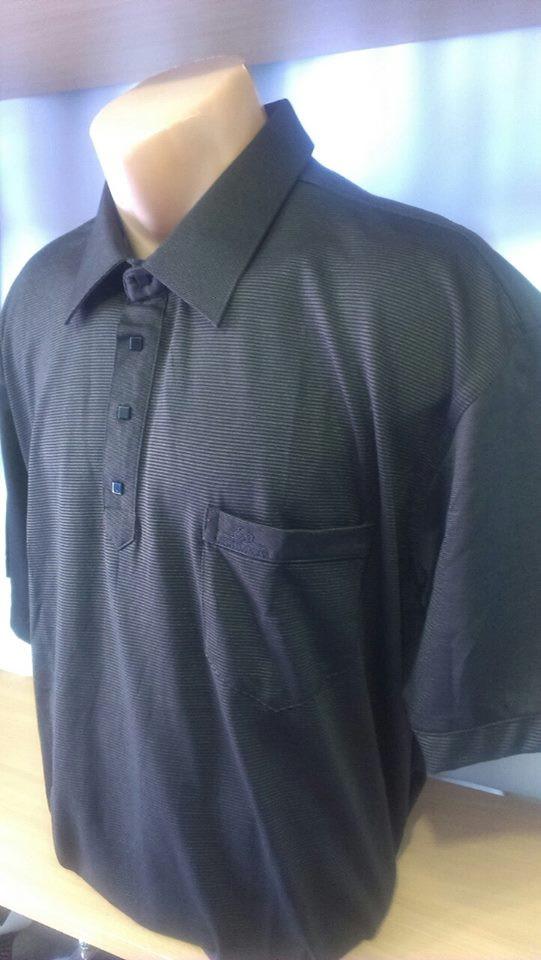 Мужская футболка-поло на кнопках новинка этого сезона с вышивкой лого на  накладном кармане - 83b4b37409a55