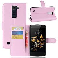 Чехол-книжка Litchie Wallet для LG K8 K350E Светло-розовый