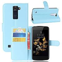 Чехол-книжка Litchie Wallet для LG K8 K350E Голубой