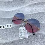 Круглые солнцезащитные очки   розово - голубые, фото 6