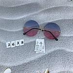 Круглые солнцезащитные очки   розово - голубые, фото 3