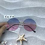 Круглые солнцезащитные очки   розово - голубые, фото 4