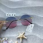 Круглые солнцезащитные очки   розово - голубые, фото 7