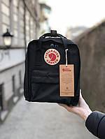 Рюкзак Fjallraven Kanken mini (full black), рюкзак Канкен мини, черный портфель канкен, фото 1