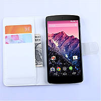 Чехол-книжка Litchie Wallet для LG Nexus 5 Белый