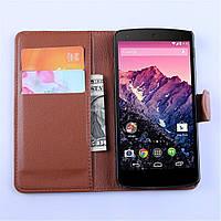 Чехол-книжка Litchie Wallet для LG Nexus 5 Коричневый