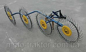 Грабли «Солнышко» ГВР-4 (грабли ворошилки 4-х колесные)