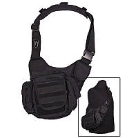 Сумка через плечо Sling bag Multifunctional, черная. Mil-Tec, Германия.