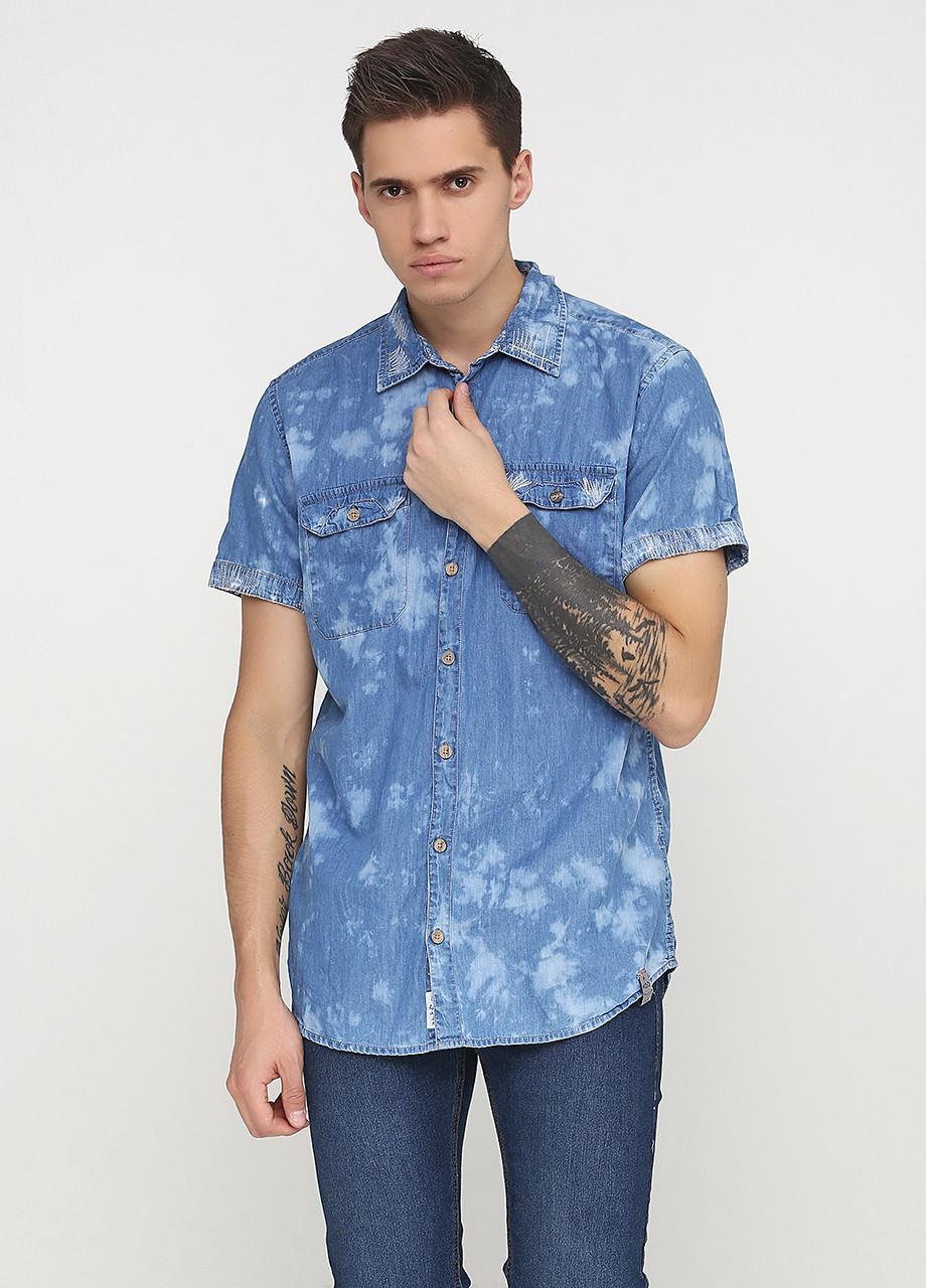 135787274 Уценка) Тениска мужская M.O.D цвет светло-голубой размер S арт (УЦ ...