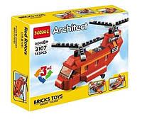 Конструктор Decool 3107 Креатор Грузовой вертолёт 3в1 (аналог Lego Creator 31003)