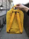 Рюкзак Fjallraven Kanken mini (yellow), рюкзак Канкен мини, желтый портфель канкен, фото 4