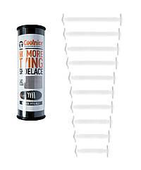 Силиконовые шнурки Coolnice Т01 10+10 Белые, КОД: 151083
