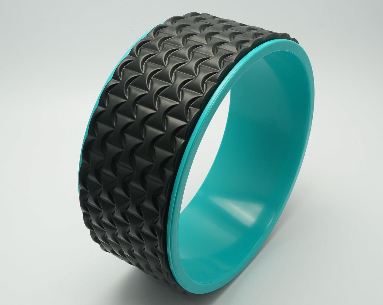 Колесо для йоги. Yoga Wheel, 33×13 см (Черное)