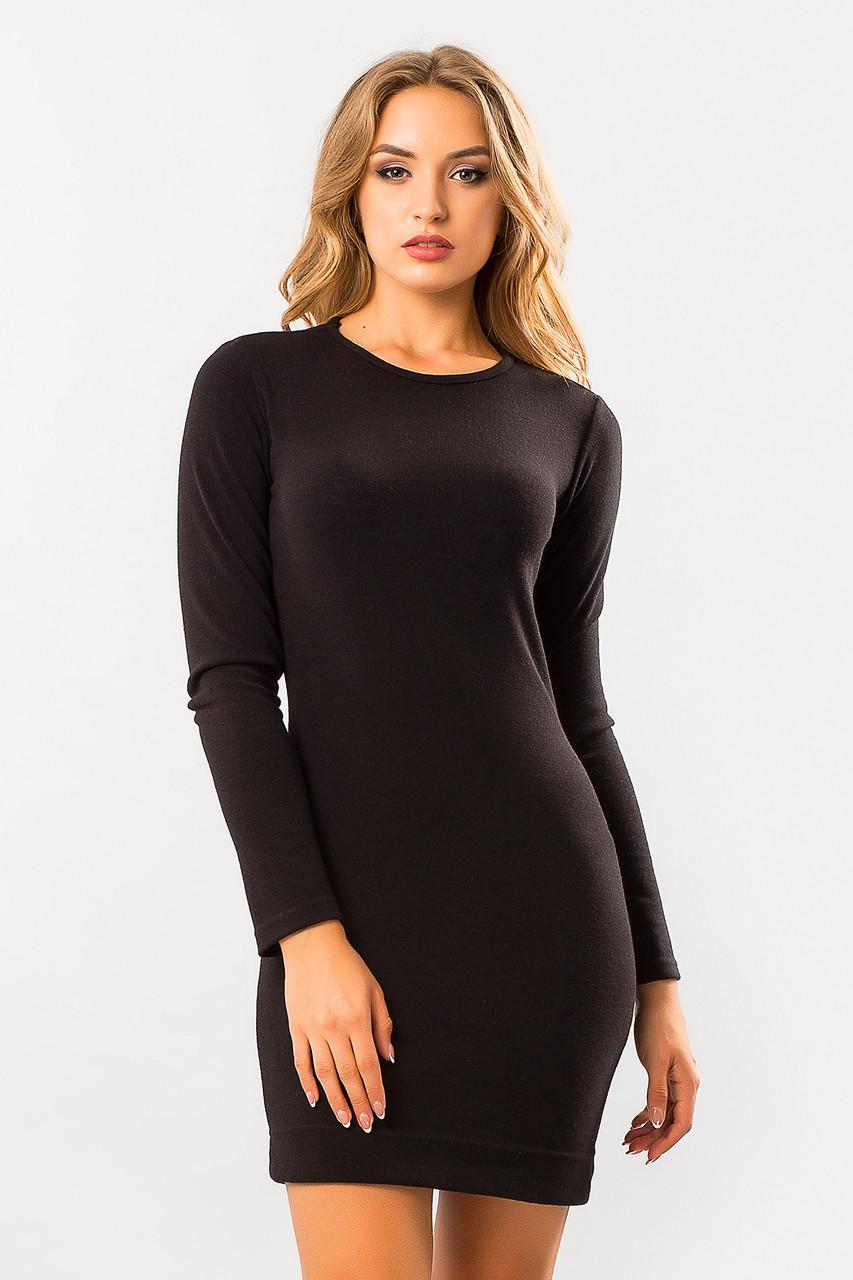 5732aea1b9c7 Черное платье из ангоры