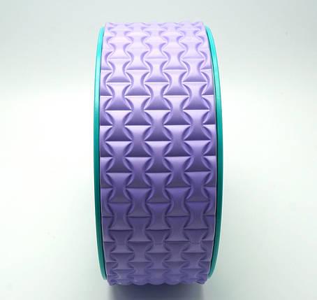 Колесо для йоги. Yoga Wheel, 33×13 см (Светло-фиолетовое), фото 2