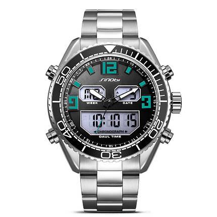 SINOBI 9731 Dual Дисплей Цифровые часы Мужские хронографы светящиеся Дисплей Часы Мода На открытом воздухе Часы - 1TopShop, фото 2