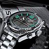SINOBI 9731 Dual Дисплей Цифровые часы Мужские хронографы светящиеся Дисплей Часы Мода На открытом воздухе Часы - 1TopShop, фото 3