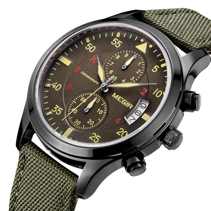 MEGIRML2021GМужскиечасыМногофункциональныйхронограф Кварцевые часы Полный календарь Спортивные часы - 1TopShop