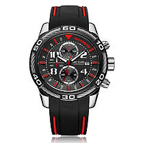 MEGIR2045СпортивныечасыВоенныйХронограф Силиконовый Ремень мужские Кварцевые часы - 1TopShop, фото 3
