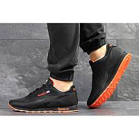 Мужские кроссовки Reebok Classic Runner Jacquard черные с оранжевым р.43 Акция -52%!