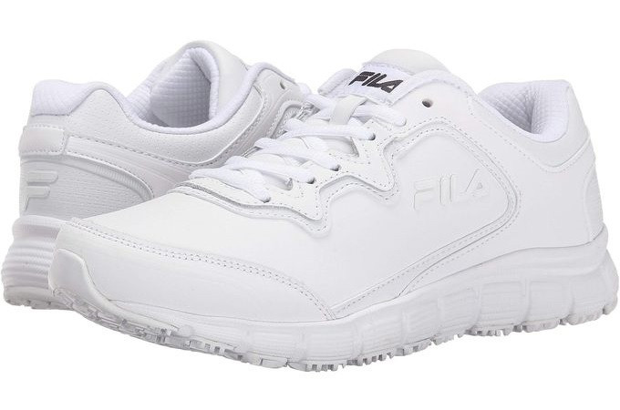 Кроссовки женские белые Fila ОРИГИНАЛ Women's Memory Fresh Start Slip Resistant Work Shoe