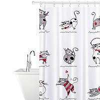 Штора для ванной комнаты Tatkraft 180 х 180 см Веселые Коты 14664, КОД: 166749, фото 1
