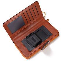ЖенскоеМаслоWaxНатуральнаяКожа4.7 / 5.5 дюймов Телефон Сумка 7 Коробка для карт памяти Многофункциональная Сумки - 1TopShop, фото 2