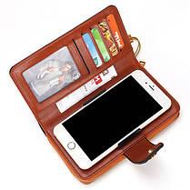 ЖенскоеМаслоWaxНатуральнаяКожа4.7 / 5.5 дюймов Телефон Сумка 7 Коробка для карт памяти Многофункциональная Сумки - 1TopShop, фото 3