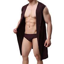 Сексуальный Ice Silk Soft Тонкий удобный средний длинный рукав пижамы с капюшоном халат халаты с Ремень - 1TopShop, фото 2