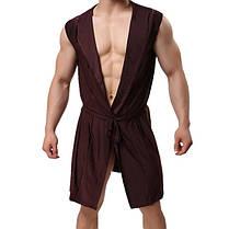 Сексуальный Ice Silk Soft Тонкий удобный средний длинный рукав пижамы с капюшоном халат халаты с Ремень - 1TopShop, фото 3