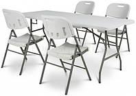 Складной садовый стол 180см + 4 КРЕСЛА Стол для кейтеринга