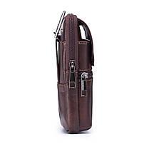 НатуральнаяКожаВинтаж6дюймовТелефон Сумка Crossbody Сумка Талия Сумка Для мужчин - 1TopShop, фото 3