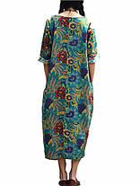 Женское Свободная хлопковая лента Ретро-печать 3/4 Рукав Платье - 1TopShop, фото 3