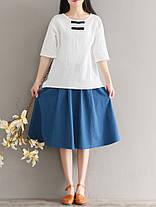 Китайский стиль Женское O-образным вырезом лягушка кнопки хлопок блузка - 1TopShop, фото 3