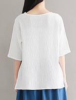 Китайский стиль Женское O-образным вырезом лягушка кнопки хлопок блузка - 1TopShop, фото 2