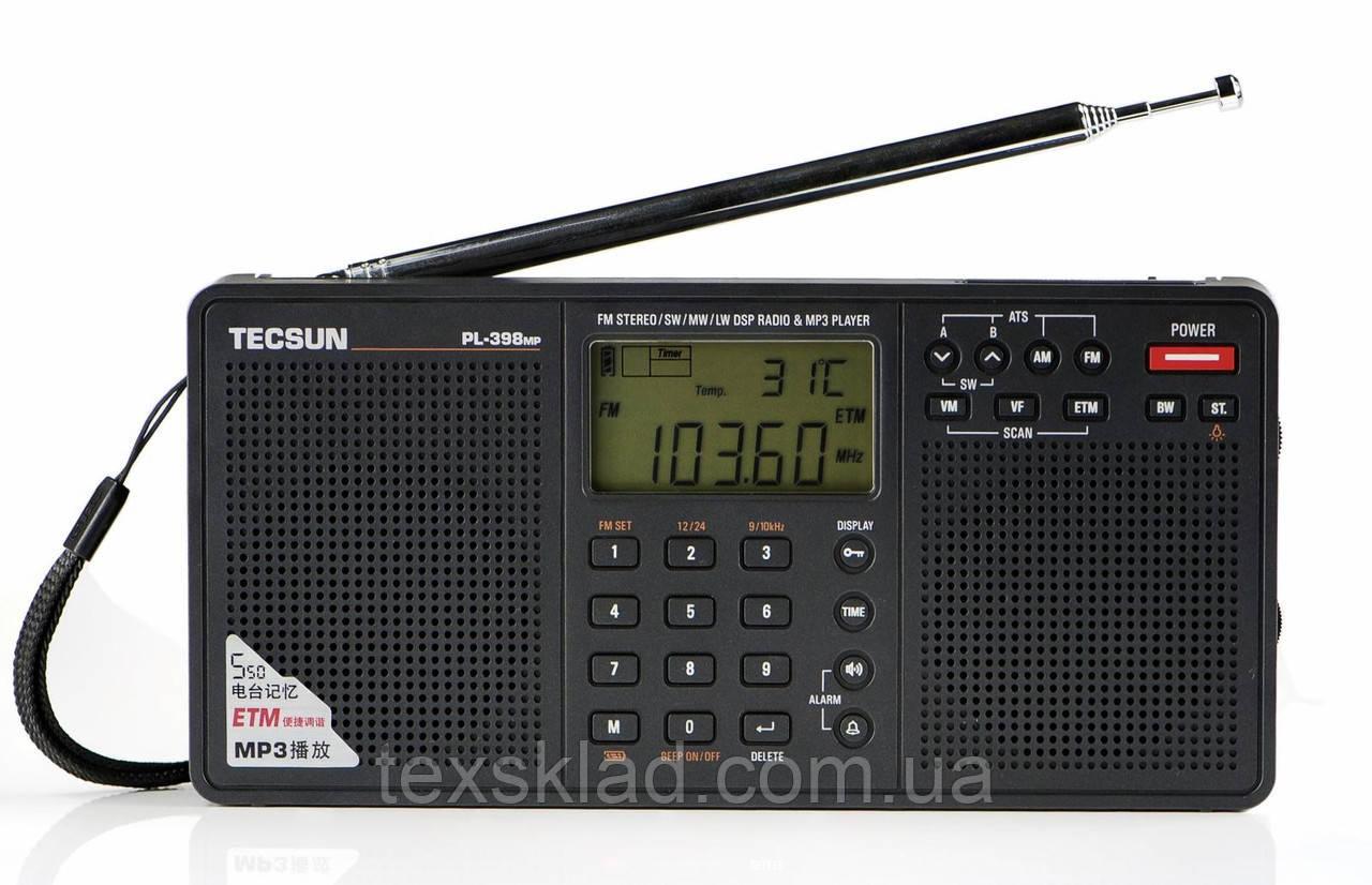 Цифровой радиоприемник всеволновой с MP3-плеером Tecsun PL-398MP