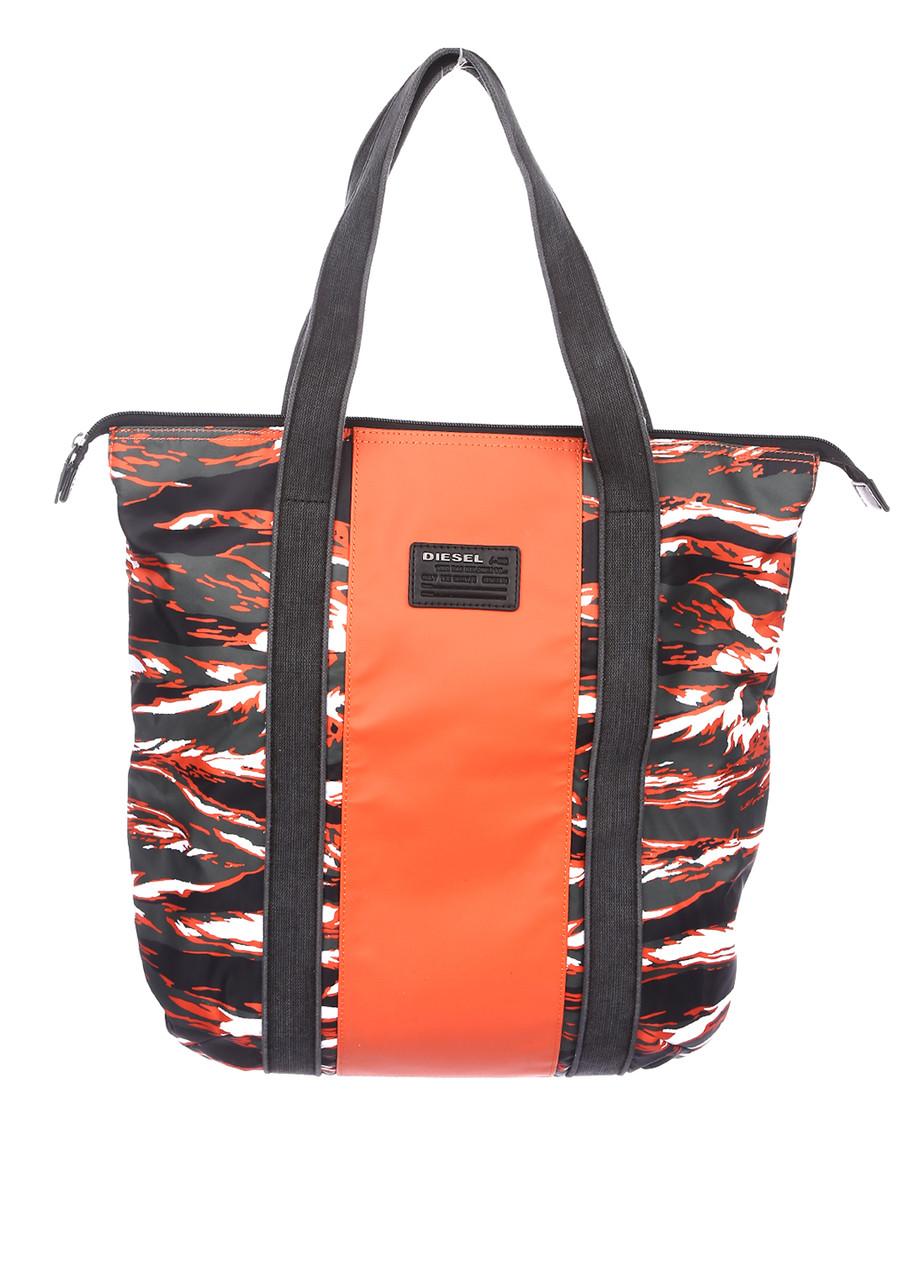 Сумка унисекс DIESEL цвет оранжево-черный размер - арт X04222P1104H6093
