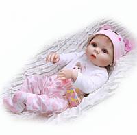 Кукла реборн 57 см полностью виниловая девочка Анюта