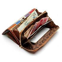 Женское Натуральная Кожа Длинный лоскут для кошелька Elgant Случайный Шаблон Кошелек Держатель карты - 1TopShop, фото 2