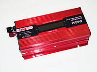 Инвертор преобразователь напряжения Power Inverter UKC 1000W KC-1000D с LCD дисплеем