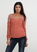 Блузка женская M.O.D цвет персиковый размер S арт WI17-SW124, фото 1